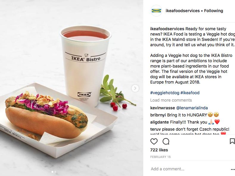 Ikea vegan hotdog